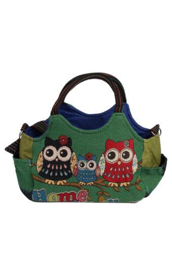 Ladies Owl Printed Bag – Green
