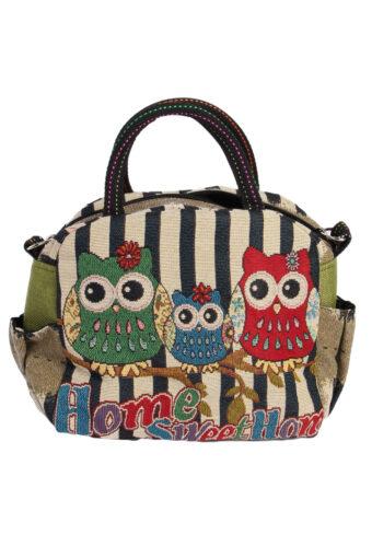Ladies Owl Printed Bag – Multi