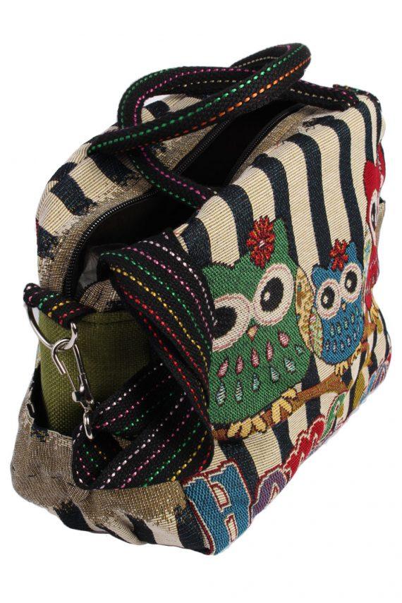 Ladies Owl Printed Bag - Multi - BG432-40779