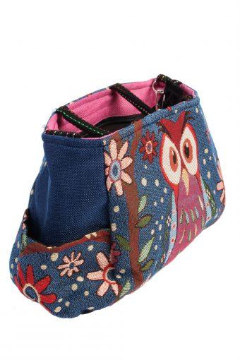 Ladies Owl Printed Bag - Navy - BG433-40782