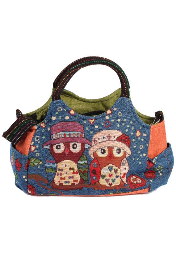 Ladies Owl Printed Bag - Navy - BG443-0
