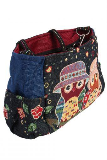 Ladies Owl Printed Bag - Navy - BG453-40842