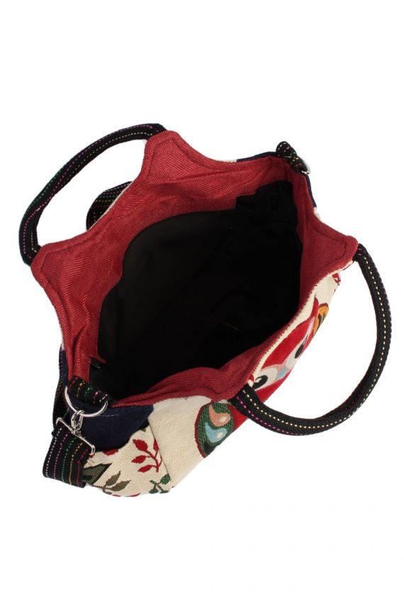 Ladies Owl Printed Bag - Cream - BG482-40993