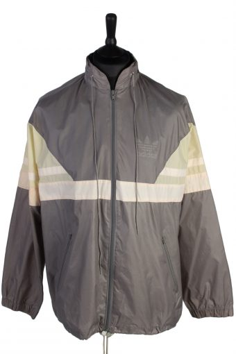 Adidas Raincoat Waterproof Outdoor Jacket Grey XL