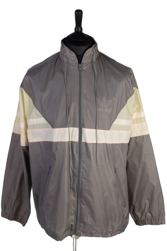 Adidas Vintage Raincoat - Grey Chest: 52- RC048-0