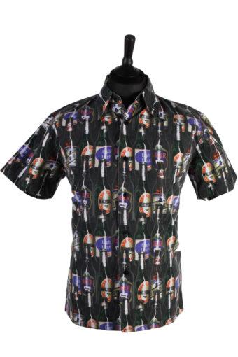 90s Retro Shirts Short Sleeve Multi M