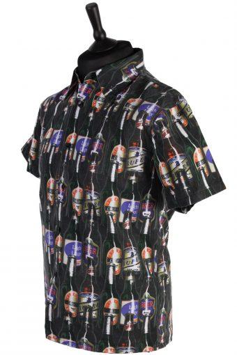 Retro 80s/90s Mens Shirt - Multi Colour - Size M - SH2351-42101