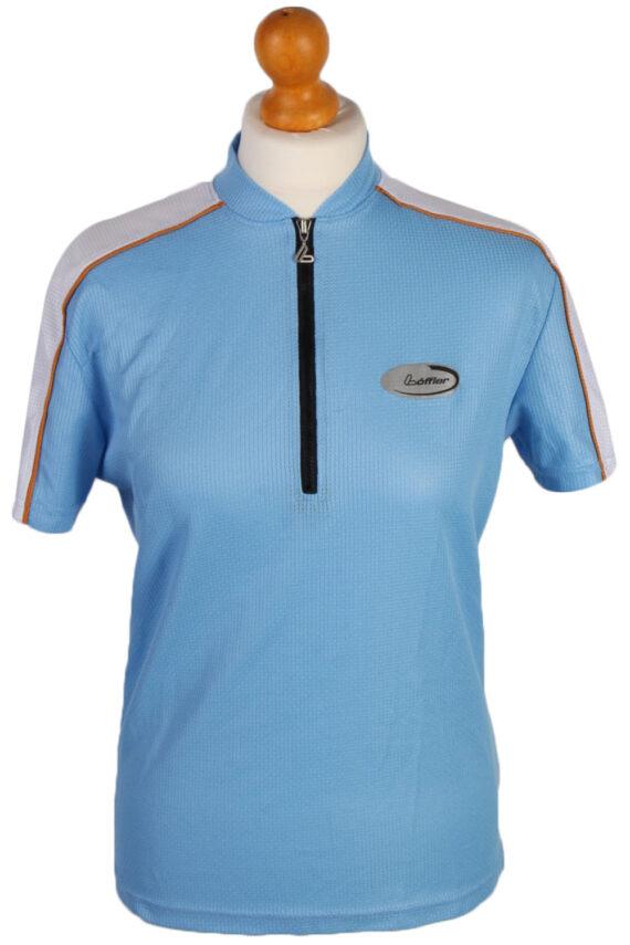 Womens Cycling Jersey Tops - E. Size L - Blue - CW0343-0