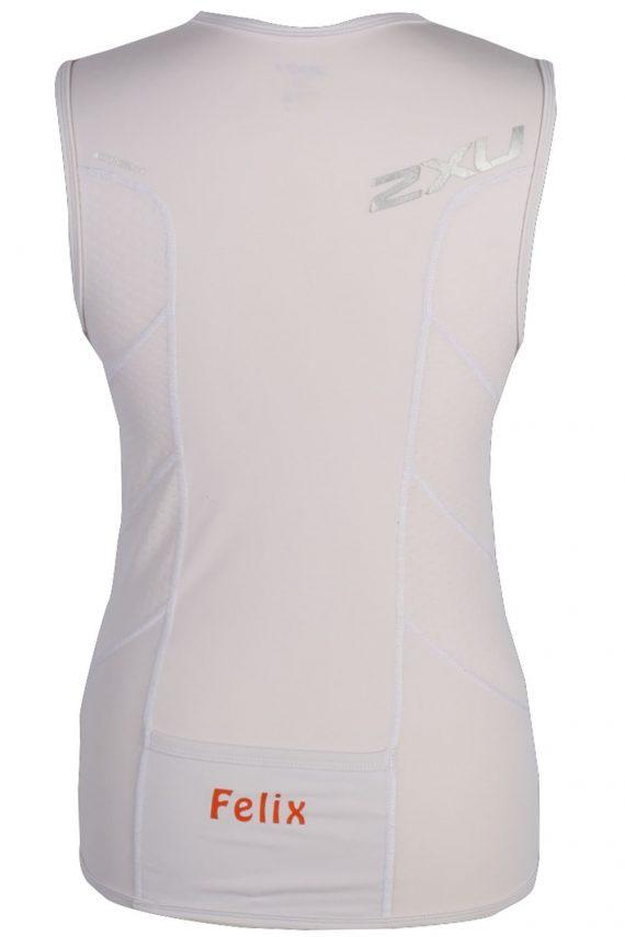 Sleeveless Cycling Running Jersey Tops - E. Size XS - White - CW0347-43530