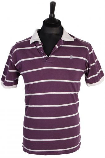 Polo Shirt 90s Retro Purple M