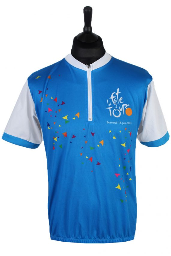 Short Sleeve Cycling Jersey Tops - L - Multi - CW0427-0