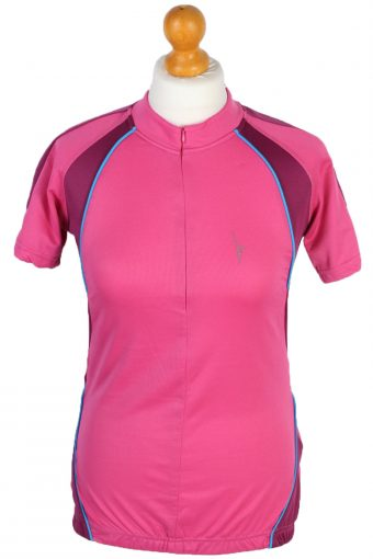 Cycling Shirt Jersey 90s Retro Pink S