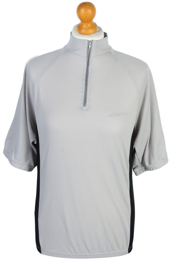 Vintage Retro Cycling Shirts - L Grey - CW0478-0
