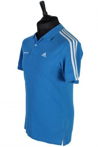 Mens Adidas Plain Polo T Shirt - Blue - S -PT0756-44442