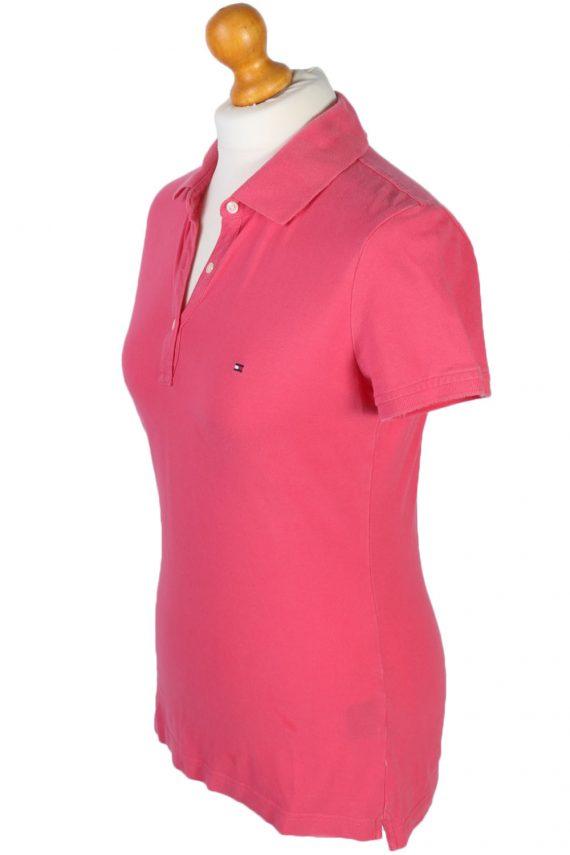 Womens Tommy Hilfiger Plain Polo Shirt - Pink - S -PT0765-44678