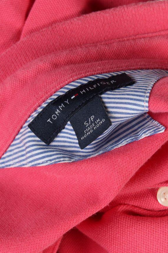Womens Tommy Hilfiger Plain Polo Shirt - Pink - S -PT0765-44680