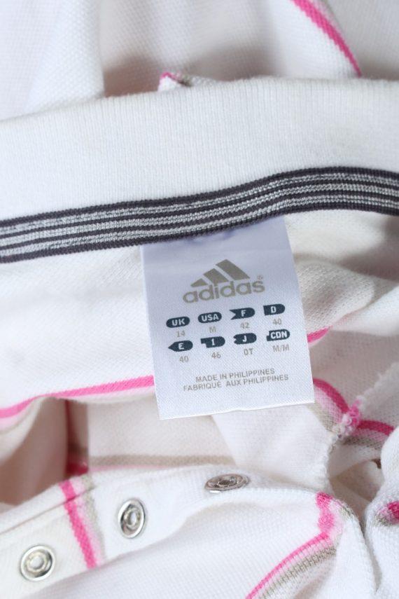 Mens Adidas Striped Polo Shirt - White - M -PT0788-44747