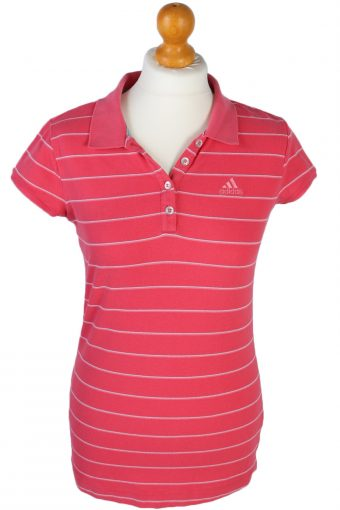 Adidas Polo Shirt 90s Retro Pink M
