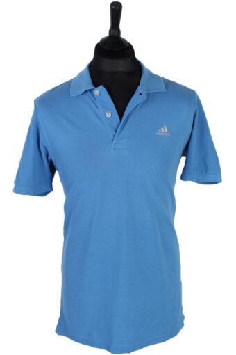 Adidas Polo Shirt 90s Retro Blue L