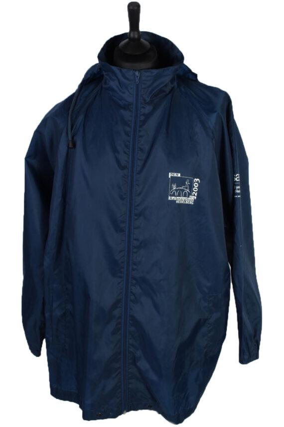Windbreaker by ET Sport Vintage Raincoat - Navy - RC114-0
