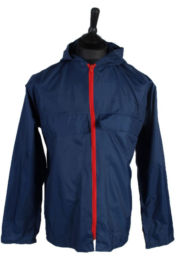 Vintage Retro Raincoat & Windbreakers M,L Navy - RC191-0