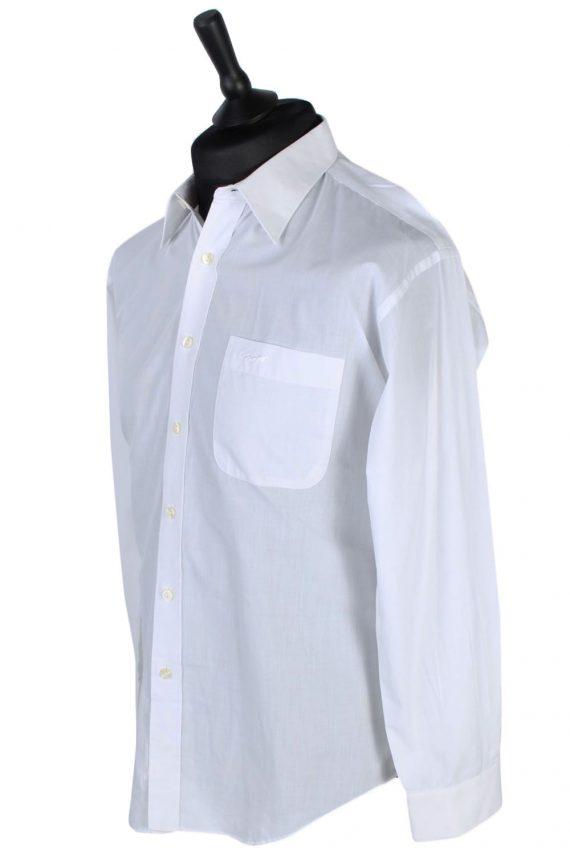 Vintage Plain Crocodile Shirt - L - White - SH2533-44851