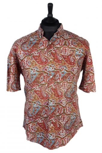 90s Shirt La Chemiserie Abstract Floral Patterned Multi L