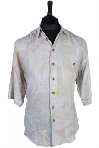 90s Shirt Accanto Abstract Patterned Multi M