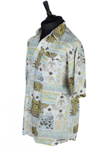 Men's Fashion Abstract Floral Patterned Shirt - L - Multi - SH2561-44912
