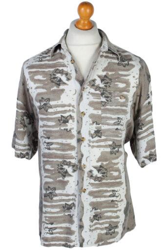 90s Shirt Mantoni Floral Patterned Hawaiian Multi L