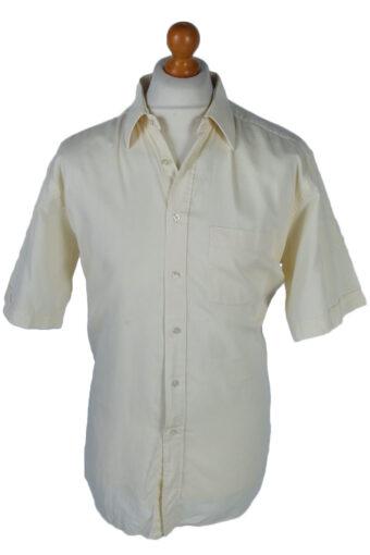 Pierre Cardin Shirts 90s Retro Short Sleeve Check Yellow L