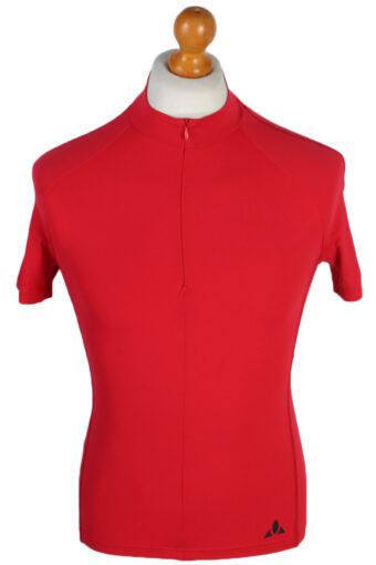 Cycling Shirt Jersey 90s Retro Red XS