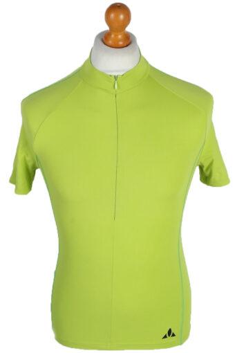 Cycling Shirt Jersey 90s Retro Lime XS