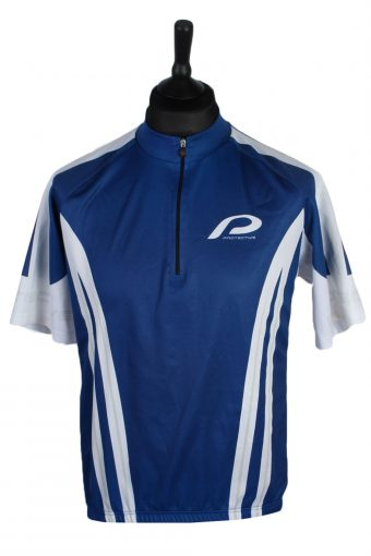 Cycling Shirt Jersey 90s Retro Blue XL