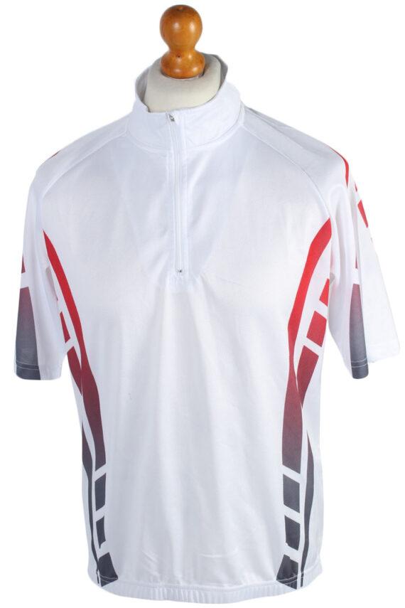 4 Sports Vintage Cycling Shirt L White - CW0557-0