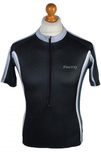 Cycling Shirt Jersey 90s Retro Black M