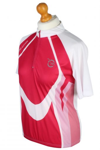 Movement Session Vintage Short Sleeve Cycling Shirt - S,M Pink - CW0585-47110