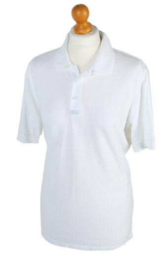 Adidas Polo Shirt 90s Retro White L