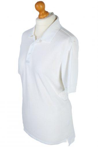 Adidas Vintage Plain Polo Shirt - L White -PT0850-46303