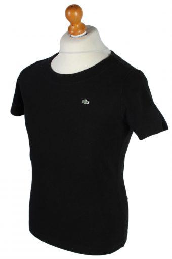 Lacoste Vintage Plain Collarless Shirt - XL Black -PT0859-47164