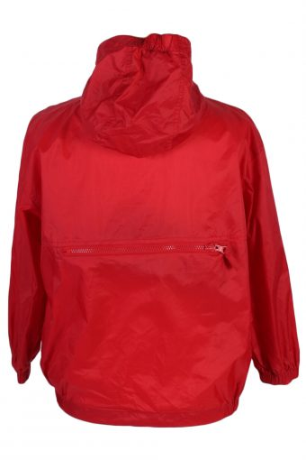 Basic Opan Vintage Raincoat Windbreaker - XS,S Red - RC252-47503