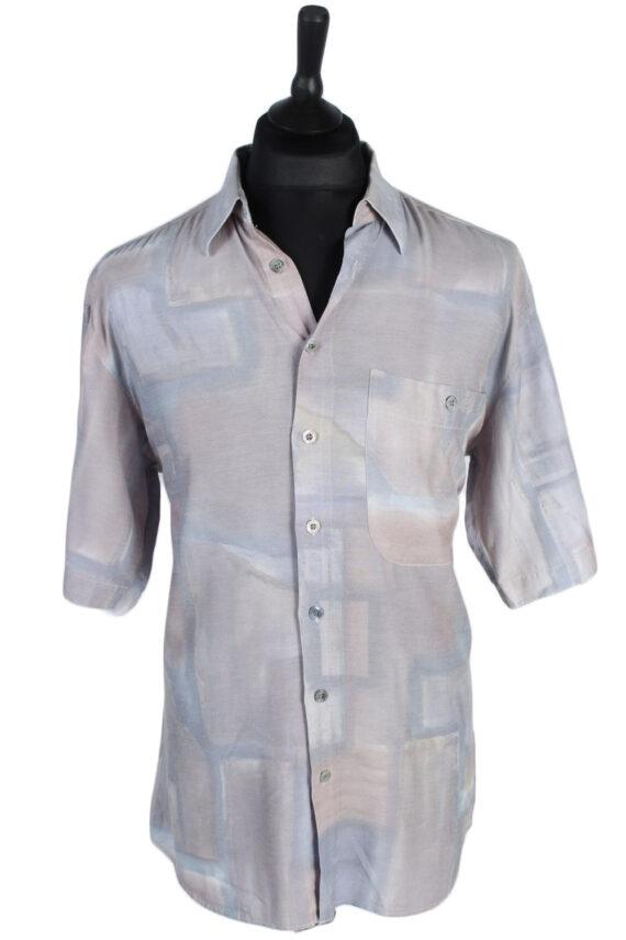 Jean Chatel Abstract Patterned Vintage Hawaiian Shirt - M-L Multi - SH2637-0