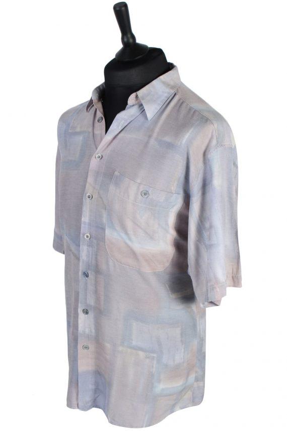 Jean Chatel Abstract Patterned Vintage Hawaiian Shirt - M-L Multi - SH2637-45594