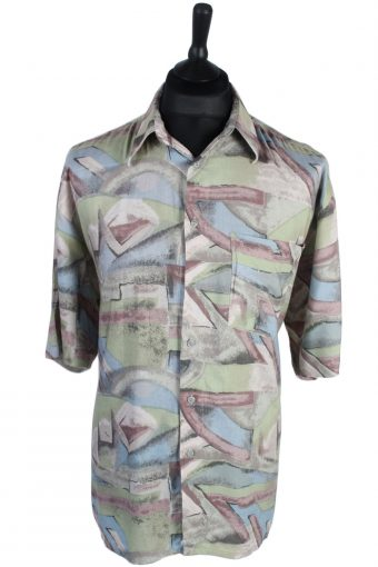 90s Shirt CC Concord Abstract Patterned Multi L