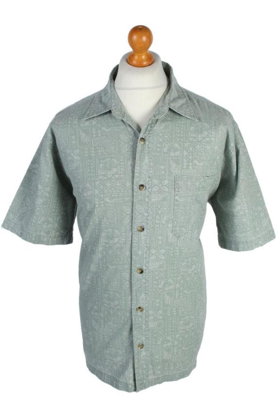 Croft & Barrow Floral Island Patterned Vintage Hawaiian Shirt - L Grey - SH2656-0