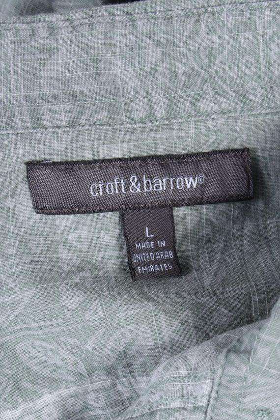 Croft & Barrow Floral Island Patterned Vintage Hawaiian Shirt - L Grey - SH2656-45655