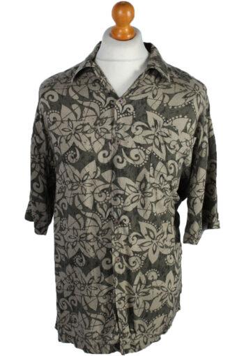 90s Shirt Floral Patterned Summer Multi L