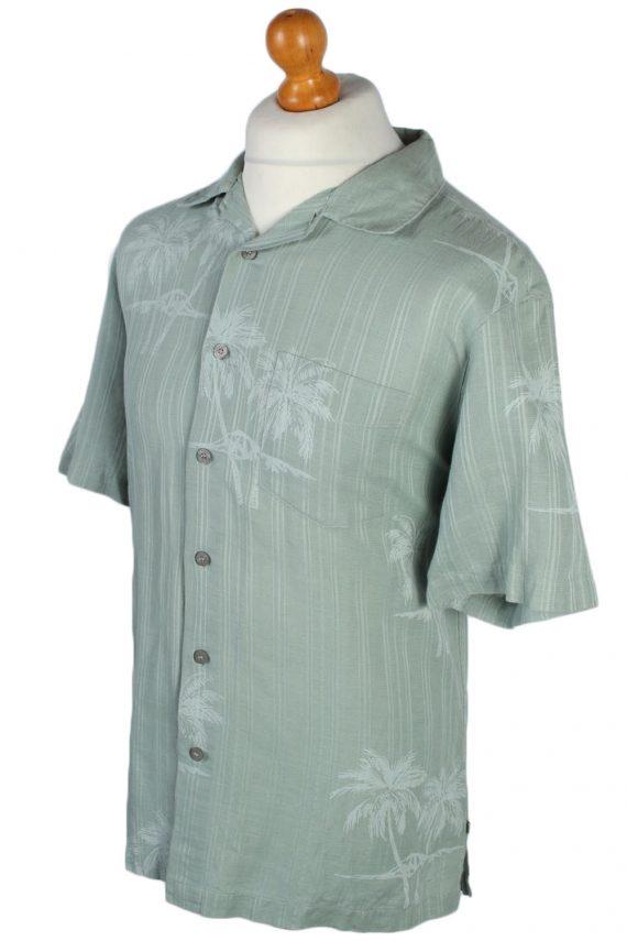 Solitude Palm Floral Patterned 80s 90s Shirt - M Mint - SH2669-45902
