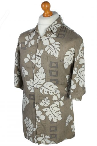 Campia Floral Patterned 80s 90s Shirt - M Multi - SH2673-45915