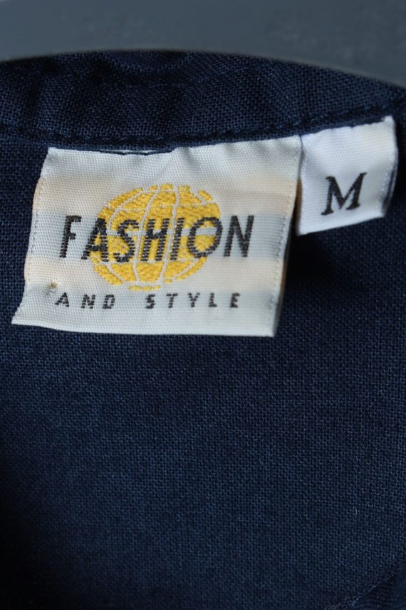 Fashion And Style Plain Patterned 80s 90s Shirt - M Multi - SH2681-45937